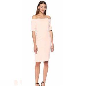 Calvin Klein Off the Shoulder Dress Petal